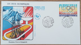 Espagne - FDC 1992 - YT N°2808 - PAYS OLYMPIQUES - FDC