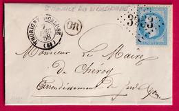 N°29 GC 3953 THORIGNY S OREUSE YONNE OR ST MAURICE AUX RICHES HOMMES POUR CHEROY - 1849-1876: Période Classique