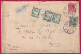 PAYS BAS LA HAYE 1929 TAXE 60C VERT TYPE DUVAL MILLESIME 5 POUR TOURS - Postage Due Covers