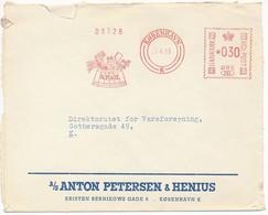 EMA Meter Commercial Slogan Cover Hasler / Anton Petersen & Henius, Brewery, Beer - 23 August 1955 København K - Cartas