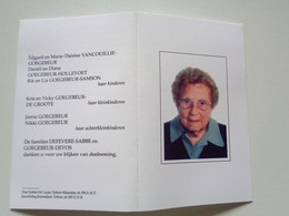 Doodsprentje/Bidprentje  Irma Defevere  Ichtegem 1915 - 2011 Torhout  (Wwe Achiel GOEGEBEUR) - Religion & Esotérisme