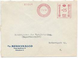 EMA Meter Commercial Slogan Cover Hasler / Medicinalco, Medicin - 7 February 1956 København 17 - Cartas