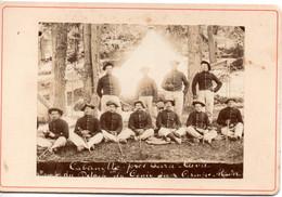 PHOTO 06 LA CABANETTE C.1900 Pres Peira Cava Camp Du Génie Du Groupe Alpin - Chasseurs ?  Gd CDV - War, Military