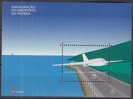 MADEIRA  Block 22, Postfrisch **, Inbetriebnahme Des Flughafens, 2000 - Madeira