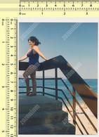 REAL PHOTO Swimsuit  Woman On Beach  - Femme Sur La Plage ORIGINAL SNAPSHOT - Anonymous Persons