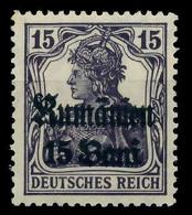 BES 1WK D-MV RUMÄNIEN Nr 10 Ungebraucht X774426 - Ocupación 1914 – 18
