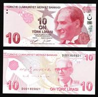 TURKEY - 10 LIRA - UNC - 2020 - P223d - Maths - 9th Emission D001 SERIAL - Turkey