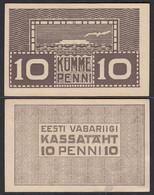 ESTLAND-ESTONIA-EESTI 10 Penni Banknote 1919 Pick 40 AUNC (1-)   (27446 - Estland