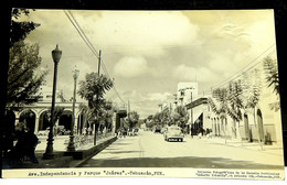 Ave Independencia Y Parque Juarez Tehuacan Pue Mexico Posted 1930s VG - Messico