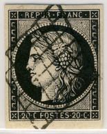 France - Yv.20a 20c Noir S/blanc - Obl. Grille - 4 Marges - Qualité SUPERBE - 1849-1850 Cérès