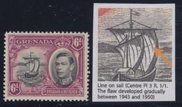 "Grenada, SG 159b, MVLH ""Line On Sail"" Variety, Early State - Grenade (...-1974)"