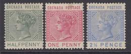 Grenada, Scott 20-22 (SG 30-32), MHR (1p With Soiled Spot) - Grenade (...-1974)