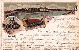 70 - Haute Saone -  GRAY - Litho - Hotel De Ville - Eglise Notre Dame - 1900 - Gray