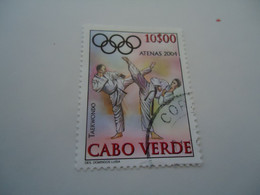 CABO VERDE  USED   STAMPS OLYMPIC GAMES  ATHENS 2005 - Cape Verde