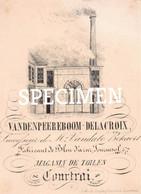 Litho Vandenpeereboom Delacroix Fabircant De Bleu D'azur Tournesol - Courtrai - Kortrijk - 7 X 10 Cm - Kortrijk