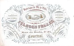 Porceleinkaart - Felhoen Frères Fabricant De File De Lille - Courtrai - Kortrijk - 7.5 X 11.5 Cm - Kortrijk