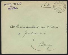 L. En SM Càd POSTES MILITAIRES 17  /1939 Pour Bruges (Mobilisation) - Military Post