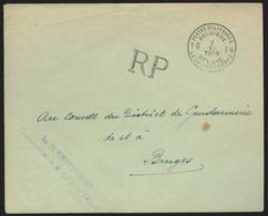 L. En SM Càd POSTES MILITAIRES 16  /1939 Pour Bruges (Mobilisation) - Military Post