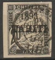 TAHITI - TAXE N° 21 - Oblitéré - Signé Brun - Used Stamps