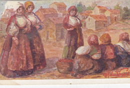 BONO-SASSARI-COSTUMI SARDI-LE CILIEGE-ILLUSTRATA OFELIA VERZELLONI=CARTOLINA  NON VIAGGIATA 1940-50 - Sassari