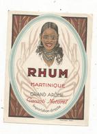 étiquette , Alcool , RHUM ,MARTINIQUE , Grand Arôme , Garanti Naturel , Martiaux - Rhum