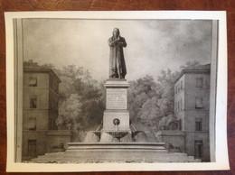Photo 13x18 D'un Document Ancien Sur Lyon Statue De Jacquard - Autres