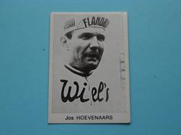 JOS HOEVENAARS ( Blanco Achterkant ) >>> Zie Foto ( Voir SCAN ) Form. 6,5 X 4,5 Cm. ! - Wielrennen