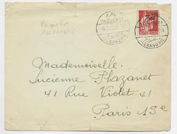 FRANCE N° 283 50C PAIX LETTRE PAQUEBOT ALEXANDRIE 9 JU 1936 - 1932-39 Vrede