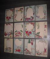 JAPON 12 Cartes Vierge Illustrateur A Identifier - Altri