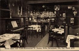CPA Köln Am Rhein, Wein Bier Und Cafe Restaurant, Severinstraße 226, Innenansicht - Andere