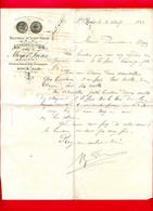 (Ref : F&T 236) Factures & Documents Commerciaux BRASSERIE DE SAINT-YRIEIX MEYER Frères SAINT-YRIEIX - 1800 – 1899