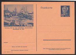 Hamburg Bildpostkarte 12 Pfg. W. Pieck GA P47 /02, Tor Eines Einheitlichen Dem. Deutschlands Zur Welt Ungebraucht - Privatpostkarten - Ungebraucht