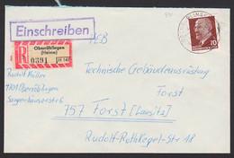 Oberröblingen (Helme) R-Brief SoSt. DDR 938 70 Pfg. Walter Ulbricht An VEB - Briefe U. Dokumente