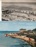 LUC Sur MER - 2 CPSM : La Plage Et Le Parc Aux Bateaux - Le Golf Miniature Et La Plage - Luc Sur Mer