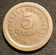PORTUGAL - 5 CENTAVOS 1925 - KM 572 - Portugal