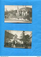 2 Cartes Photos à Localiser- D'un Carnaval De Villlage  Environs De TOULON- Plan Très Animés Années 30 - Other Municipalities