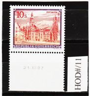 HOD#/11 ÖSTERREICH 1988 STIFTE Und KLÖSTER Michl 1915 ANK 1946 Mit DRUCKDATUM  ** Postfrisch SIEHE ABBILDUNG - 1981-90 Neufs