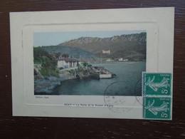 Carte Assez Rare De 1912 , Agay , La Rade Et Le Kastel D'agay - Otros Municipios