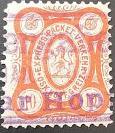 Germany Stadtpost/Privatpost Greiz 10 Pfg Oscar Hopf 1889 Used Michel 2 - Sello Particular
