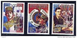 Thème Général De Gaulle - Madagascar - Yvert 987 / 9 Neuf Xxx - De Gaulle (Général)