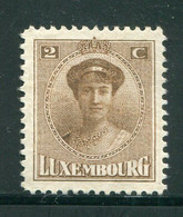 LUXEMBOURG- Y&T N°119- Neuf Sans Gomme - 1921-27 Charlotte Voorzijde