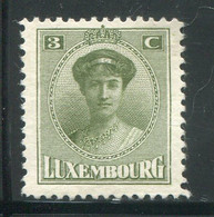 LUXEMBOURG- Y&T N°111- Neuf Sans Gomme - 1921-27 Charlotte Voorzijde