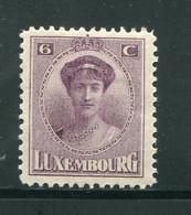 LUXEMBOURG- Y&T N°121- Neuf Avec Charnière * - 1921-27 Charlotte Voorzijde