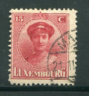LUXEMBOURG- Y&T N°123- Oblitéré - 1921-27 Charlotte Voorzijde