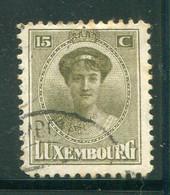 LUXEMBOURG- Y&T N°124- Oblitéré - 1921-27 Charlotte Voorzijde