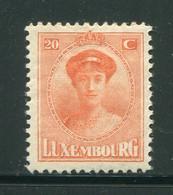 LUXEMBOURG- Y&T N°125- Neuf Avec Charnière * - 1921-27 Charlotte Voorzijde
