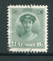 LUXEMBOURG- Y&T N°126- Oblitéré - 1921-27 Charlotte Voorzijde