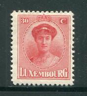 LUXEMBOURG- Y&T N°127- Neuf Avec Charnière * - 1921-27 Charlotte Voorzijde