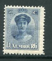 LUXEMBOURG- Y&T N°129- Neuf Avec Charnière * - 1921-27 Charlotte Voorzijde