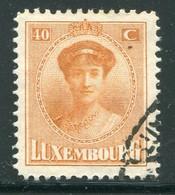 LUXEMBOURG- Y&T N°128- Oblitéré - 1921-27 Charlotte Voorzijde